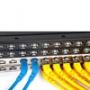 Патч-корды F/UTP Cat.6a экранированные угловые 45° LSZH Hyperline