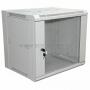 """19"""" Настенный шкаф Rexant 9U 600х450х500 мм (ШxГxВ) - передняя дверь стекло, боковые стенки съемные (разобранный) серый RAL 7035 REXANT"""