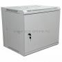 "19"" Настенный шкаф Rexant 9U 600х450х500 мм (ШxГxВ) - передняя дверь металл, боковые стенки съемные (разобранный) серый RAL 7035 REXANT"