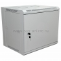 "19"" Настенный шкаф Rexant 15U 600х450х770 мм (ШxГxВ) - передняя дверь металл, боковые стенки съемные (разобранный) серый RAL 7035 REXANT"