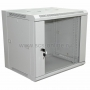 """19"""" Настенный шкаф Rexant 9U 600х600х500 мм (ШxГxВ) - передняя дверь стекло, боковые стенки съемные (разобранный) серый RAL 7035 REXANT"""