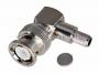 Разъем штекер BNC RG-59 обжим угловой (01-005B) (100шт) REXANT