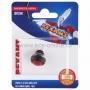 Выключатель-кнопка  250V 1А (2с) (ON)-OFF  Б/Фикс  красная  Micro (PBS-33В)  REXANT (в упак. 1шт.)