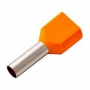 Наконечник штыревой втулочный изолированный F-12 мм 2х4 мм? (НШВи(2) 4.0-12/НГи2 4,0-12) оранжевый REXANT