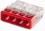 Электромонтажные экспресс-клеммы 2273-204 (4*2.5мм2) WAGO (Цена за шт, в уп-ке 100 шт)