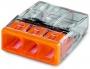 Электромонтажные экспресс-клеммы 2273-243 (3*2.5мм2 с пастой) WAGO (Цена за шт, в уп-ке 100 шт)