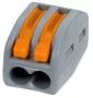 Универсальная многоразовая 2-проводная клемма 222-412 (0,08-2,5 (4) мм2) WAGO (Цена за шт, в уп-ке 50 шт)