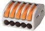 Универсальная многоразовая 5-проводная клемма 222-415 (0,08-2,5 (4) мм2) WAGO (Цена за шт, в уп-ке 40 шт)
