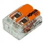 221-412 Клемма 2 контактная компактная 0,2-4 кв. мм WAGO (Цена за шт, в уп 100 шт)