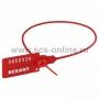 Пломба пластиковая, номерная, 320мм, красная  REXANT (в уп. 50 шт)