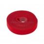 Лента-липучка многоразовая 5 м х 20 мм, красная (1 шт.) REXANT