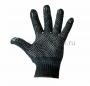 Перчатки полушерстяные с покрытием ПВХ (Зима) черные, 7 нитей, 75-77 гр. (Цена за шт., в уп. 10 шт.)