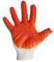 Перчатки х/б с одинарным латексным покр., 5нитей, 40-42гр., 10 класс вязки, красного цвета (Цена за шт., в уп. 10 шт.)
