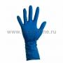 Перчатки латексные синие М (25пар)