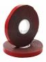 Двухсторонний скотч, красный на серой основе, 6ммх5м REXANT (Цена за шт., в уп. 20 шт.)
