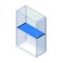 Разделитель горизонтальный, для шкафов Conchiglia, Ш=580мм DKC/ДКС
