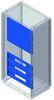 Панель накладная сплошная, для шкафов Conchiglia, Ш=580мм DKC/ДКС