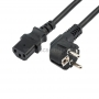 Шнур сетевой, евровилка угловая - евроразъем С13, кабель 3x1,5 мм?, длина 0,5 метра, черный (PVC пакет) REXANT