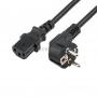 Шнур сетевой, евровилка угловая - евроразъем С13, кабель 3x1,5 мм?, длина 1,5 метра, черный (PVC пакет) REXANT