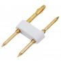 Разъем-иглы для соединения гибкого неона 8х16 мм на шнур/коннектор