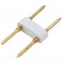 Разъем-иглы для соединения гибкого неона формы D (16х16 мм) на шнур/коннектор