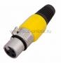 Разъем CANON гнездо XLR на шнур желтый (20шт) REXANT