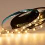 LED лента 12 В, 6 мм, S-образная плата, IP65 (напыление силикона), SMD 2835, 60 LED/m, цвет свечения теплый белый (3000 К)