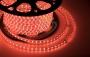 LED лента герметичная в силиконовой оболочке, 220V, 13*8 мм, IP65, SMD 5050, 60 диодов/метр, цвет светодиодов красный, бухта 50 метров Neon-Night