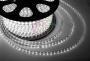 LED лента герметичная в силиконовой оболочке, 220V, 13*8 мм, IP67, SMD 5050, 60 диодов/метр, цвет светодиодов белый, бухта 50 метров Neon-Night