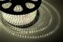 LED лента герметичная в силиконовой оболочке, 220V, 13*8 мм, IP65, SMD 5050, 60 диодов/метр, цвет светодиодов теплый белый, бухта 50 метров Neon-Night