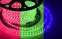 LED лента герметичная в силиконовой оболочке, 220V, 13*8 мм, IP65, SMD 5050, 60 диодов/метр, цвет светодиодов RGB, бухта 50 метров Neon-Night