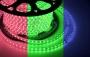 LED лента герметичная в силиконовой оболочке, 220V, 13*8 мм, IP65, SMD 3528, 60 диодов/метр, цвет светодиодов RGB, бухта 50 метров Neon-Night