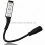 LED мини контроллер с разьемом 5,5*2,1 мм 72/144 W, 3 кнопки, 12V/24V