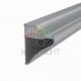 Профиль для полок накладной алюминиевый 3545-2, 2м REXANT