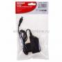 Сетевое зарядное устройство microUSB 220В (СЗУ) (5V, 1000mA) шнур 1М  черное  REXANT