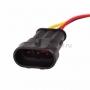 DJ7041-1.5-11 Автомобильный разъем штекер с проводом 20см  (4-х контактный)