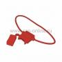 Держатель предохранителя прямоугольный красный (50шт) REXANT