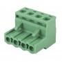 Клеммная колодка винтовая угловая (2EDGK-04P) 5мм 4 контакта (упаковка 100шт.)