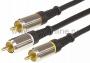 Шнур 3RCA Plug - 3RCA Plug 3М (GOLD) - металл REXANT (Цена за шт., в уп. 10 шт.)