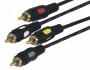 Шнур 4RCA Plug - 4RCA Plug  1.5М  (GOLD)  REXANT