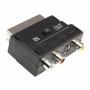 Переходник SCART - 3гн.RCA + гн.SVHS (с переключателем) (10шт) REXANT