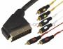 Шнур SCART Plug - 6RCA Plug 1.5М (GOLD) REXANT