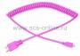 Шнур HDMI - micro HDMI, 2М розовый витой REXANT (Цена за шт., в уп. 10 шт.)
