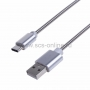 Шнур USB 3. 1 type C (male) - USB 2. 0 (male) в гибкой металлической оплетке 1M
