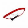 Аудио кабель 3,5 мм штекер-штекер угловой, металлические разъемы шнур спираль, 1М красный