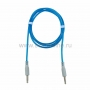 Аудио кабель AUX 3.5 мм гелевый 1M синий REXANT