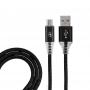 USB кабель micro USB, черный SOFT TOUCH 1 метр REXANT