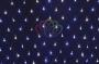Гирлянда - сеть светодиодная 2 х 1,5м, свечение с динамикой, черный провод, бело/синие диоды Neon-Night