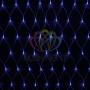 """Гирлянда """"Сеть"""" 2х1,5м, свечение с динамикой, прозрачный ПВХ, 288 LED, 230 В, цвет: Синий Neon-Night"""