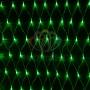 """Гирлянда """"Сеть"""" 2х1,5м, свечение с динамикой, прозрачный ПВХ, 288 LED, 230 В, цвет: Зелёный Neon-Night"""